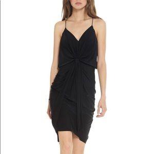 MISA midi black dress